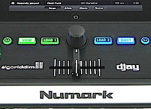 Numark iDJ Pro crossfader